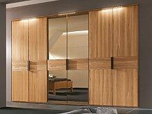 Thielemeyer Mira Multi 4 Kleiderschrank 6-türiger 2 Türen Spiegel bronziert Ausführung Struktuzresche Naturbuche und Wildeiche wählbar