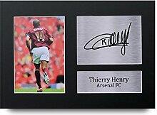 Thierry Henry unterzeichnet A4gedrucktem Autogramm Arsenal Print Foto Bild Präsentation Display–tolle Geschenkidee