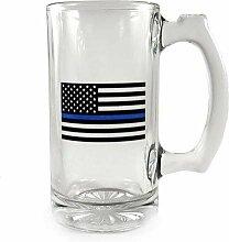 Thin Blue Line Libbey Deco Glas Tasse Flagge 354 ml
