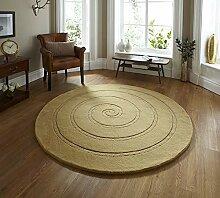 Think Rugs Spirale Teppich 180x 180cm, Gold