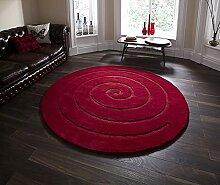 Think Rugs Teppich, Wolle, rund, Motiv Spirale,