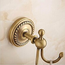 THk&M Antique Brass bathroom Accessoires Set Papier Handtuch Rack Seife Teller Ring Haken, Haken