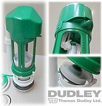 Thomas Dudley 327628Niagara Vantage Air Pneumatik verdeckter Zisterne Flush Ventil–Grün/Weiß