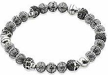 Thomas Style Armband Totenkopf Kreuz Perlen
