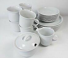 Thomas Trend Weiss 20tlg. Geschirr / Kaffee Set