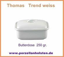 Thomas Trend Weiß - Butterdose mit Deckel für