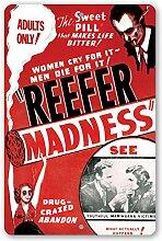 Thomas655 Blechschild Reefer Madness Filmposter