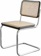 Thonet - S 32 V Stuhl, Chrom / Buche schwarz gebeizt (TP 29) / Rohrgeflecht mit Stützgewebe