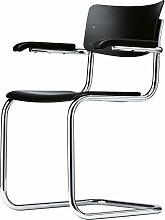 Thonet - S 43 F Stuhl, Chrom / Buche schwarz gebeizt (TP 29)