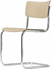 Thonet - S 43 Stuhl, Chrom / Buche natur (TP 17)