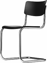 Thonet - S 43 Stuhl, Chrom / Buche schwarz gebeizt (TP 29)