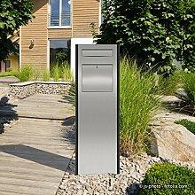 """Thorwa® Design Briefkasten Standbriefkasten Briefkastensäule """"Pylon"""" mit individuellem Schriftzug / Hausnummer – für außen – H: 150cm (Postentnahme vorne)"""