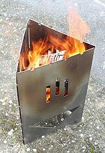Thorwa® Design Edelstahl Grill Schwedenfeuer Schaschlik Feuerkorb Metall Feuerstelle Feuerschale