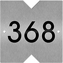 Thorwa Design Hausnummernschild mit Dreiecken