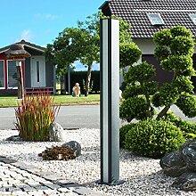 Thorwa® Design LED Lichtsäule Lichtstele Lampe Wegeleuchte Pylon - H: 110cm – für außen (Lichtfarbe: kaltweiß) Wegleuchte Außenleuchte