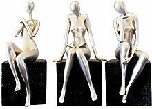 THREE Moderne Abstrakte Figur Schönheit Statue