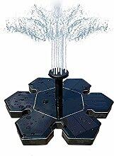 ThreeCat Solar springbrunnen,Solar wasserspiel mit 1.4 W Schwimmende Solar Wasserpumpe Fontäne Pumpe für Gartenteiche, Fisch-Behälter, Vogel-Bad und Kleiner Teich,Aquarium, Garten, Dekoration usw.