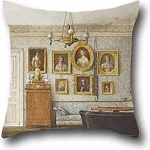 Throw Pillow Case Of Oil Painting Otto Wagner - A