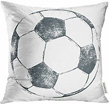 Throw Pillow Cover Stamp Soccer Ball Football in