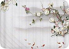 Throwpillow Badematte rutschfeste Plum Chinese Art