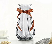 THUK Einfache Farbverlauf Vase, Origami Glasvase,