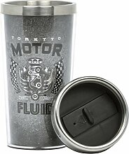 Thumbs Up Fast & Furious Travel Mug, Grau