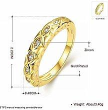 Thumby Gold Paar Runde Zirkon Ring, Gold, 7