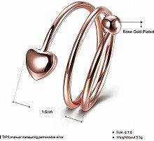 Thumby Herzförmiger Ring, Roségold, 7