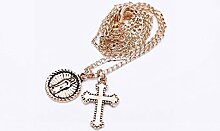 Thumby Mode Gold Kreuz Religiöse Halskette