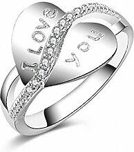 Thumby Mode Silber Liebe Herz Ringe Frau
