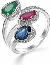 Thumby Modeschmuck Mixed Diamond Crystal Ring