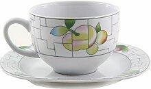 THUN Leon Puzzle Kaffee-Tasse und Untertasse,