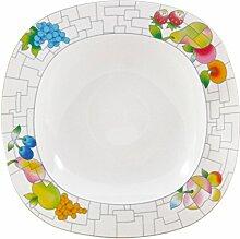 Thun Leon Puzzle Teller, Porzellan, Weiß, 23x