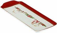THUN - Tablett mit weihnachtlichen Dekorationen -