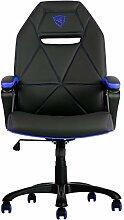 ThunderX3tgc10bb–Stuhl mit gepolstertem Sitz, Rückenlehne gepolstert, schwarz, rot, schwarz, rot, gelb, Schaumstoff, Vinylchlorid (PVC))