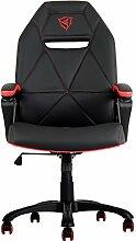 ThunderX3tgc10br–Stuhl mit gepolstertem Sitz, Rückenlehne gepolstert, schwarz, rot, schwarz, rot, gelb, Schaumstoff, Vinylchlorid (PVC))