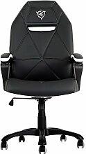 ThunderX3tgc10bw–Stuhl mit gepolstertem Sitz, Rückenlehne gepolstert, schwarz, weiß, schwarz, weiß, gelb, Schaumstoff, Vinylchlorid (PVC))