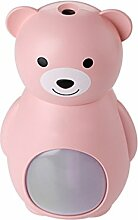 THUNFER Luftbefeuchter Ultraschall Hause Luftreiniger USB 8.2 * 6.3 * 13.2cm,Pink