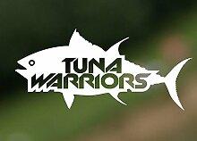 Thunfisch Warriors Angeln Jagd Fisch Truck Hobby Auto Drift Bumper Window Funny Vinyl Van Laptop Love Herz Decor Home Live Kids Funny Art Wand Aufkleber Aufkleber Motorrad