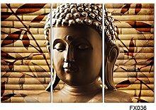 Thwall 3 stück Klassische Buddha Malerei Ernste
