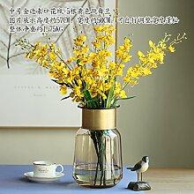 THWS Silk Rosen Hochzeit Dekoration Dekoration Künstliche Blumen, gelb