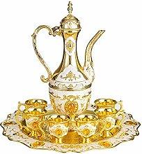 Thyggzjbs Türkische Kaffeekanne für 6 Personen,