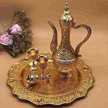 Thyggzjbs Vintage Türkische Kaffeekanne Set für