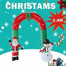 THZC Weihnachtsdekoration 2.4m aufblasbarer