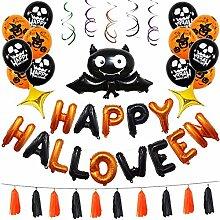 Tian 45 Stücke Happy Halloween Ballons Set mit