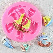TIANDI Kuchen Werkzeuge Boot Silikonform Cupcake