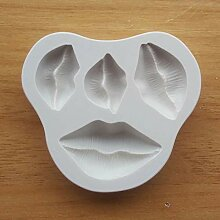 TIANDI Lippen Form Silikonform Kuchen Dekoration