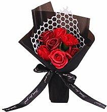 Tianhaik Rosenblüte 7 Seife Blumenstrauß mit Box