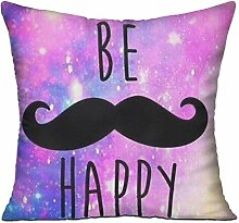 TIANHOME Cushion Cover Pillow Cover Be Happy