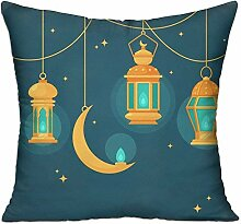 TIANHOME Cushion Cover Pillow Cover Happy Eid
